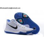 wholesale Nike Kyrie 3 White Blue Black Mens Basketball Shoes
