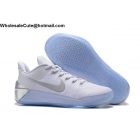 wholesale Nike Kobe 12 AD Chrome White Silver Mens Basketball Shoes