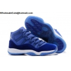 wholesale Mens & Womens Air Jordan 11 Velvet Blue White