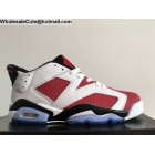 wholesale Mens & Womens Air Jordan 6 Low Carmine White Black