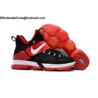 wholesale Nike LeBron 14 Black Red White Mens Basketball Shoes