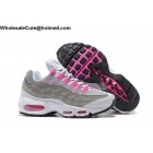 Womens Nike Air Max 95 Grey Pink White Running Shoes