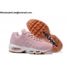 wholesale Womens Nike Air Max 95 Pink White Running Shoes