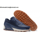 wholesale Mens & Womens Nike Air Max 90 PRM Wool Blue Running Shoes