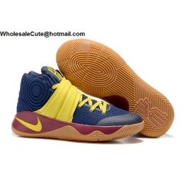 Womens Nike Kyrie 2 Navy Blue Brown Yellow Basketball Shoes