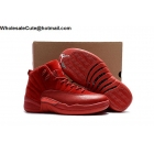 wholesale Mens & Womens Air Jordan 12 All Red Suede