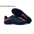Mens Nike HypervenomX Finale TF Navy Blue Orange Soccer Cleats