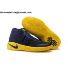 wholesale Mens & Womens Nike Kyrie 2 Cavs Playoff Navy Blue Yellow