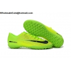 wholesale Mens & Womens Nike Mercurical Victory VI TF Green Black Cleats