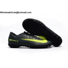 wholesale Mens & Womens Nike Mercurical Victory VI CR7 TF Black Volt Cleats