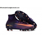 wholesale Mens & Womens Nike Mercurial Superfly V AG PRO Purple Orange Cleats