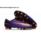 wholesale Mens Nike Mercurial Victory VI AG Pro Purple Orange Soccer Cleats