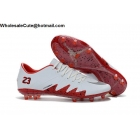 wholesale Jordan Nike Hypervenom Phantom II NJR FG White/Red Mens Cleats