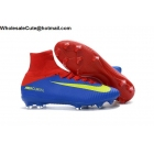 wholesale Mens Nike Mercurial Superfly V FG Red Blue Volt Cleats