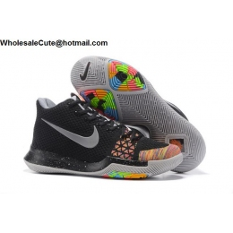 Nike Kyrie 3 Flyknit Black Multi Color Mens Basketball Shoes