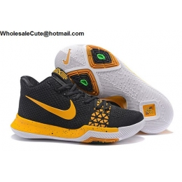 Nike Kyrie 3 Flyknit Black Yellow Mens Basketball Shoes