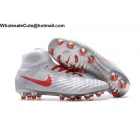 wholesale Mens Nike Magista Obra II FG Grey Red Soccer Cleats