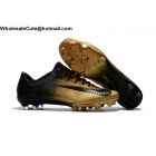 wholesale Mens Nike Mercurial Vapor XI FG Black Gold Soccer Shoes