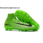 wholesale Mens Nike Mercurial Superfly V AG PRO Green Black Soccer Cleats