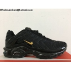 Nike Air Max Plus TN Black Gold Mens Running Shoes