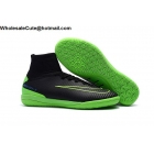 wholesale Mens NIke MercurialX Proximo II IC Black Green Soccer Cleats