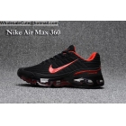 wholesale Mens & Womens Nike Air Max 360 Black Red Running Shoes
