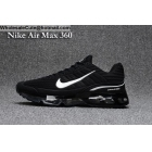 wholesale Mens & Womens Nike Air Max 360 Black White Running Shoes