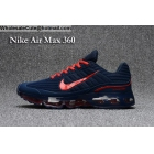 wholesale Nike Air Max 360 Blue Red Size US7 - US13 Mens Running Shoes