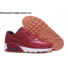 Mens & Womens Nike Air Max 90 Wool Red White Running Shoes
