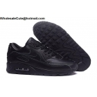 wholesale Mens & Womens Nike Air Max 90 All Black Running Shoes