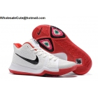wholesale Nike Kyrie 3 White Black Red Mens Basketball Shoes