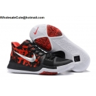 wholesale Nike Kyrie 3 Samurai Black Red Silver Mens Basketball Shoes