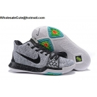 Nike Kyrie 3 Flyknit Grey Black Mens Basketball Shoes