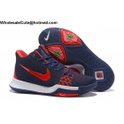 Nike Kyrie 3 Flyknit Dark Blue Red Mens Basketball Shoes