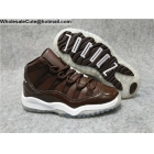 Kids Air Jordan 11 Retro Brown White Shoes