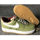 Nike Air Force 1 07 LV8 Olive Green White Mens Shoes