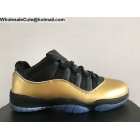 wholesale Air Jordan 11 Low Black Gold Mens Basketball Shoes