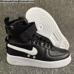 Mens & Womens Nike Special Field Air Force 1 Black White Boots