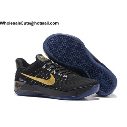 Womens Nike Kobe AD Flyknit Black Gold Basketball Shoes