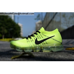 Nike Air VaporMax Flyknit Volt Black Mens Running Shoes