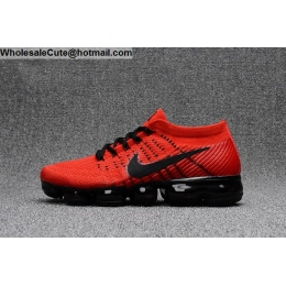 Nike Air VaporMax Red Black Mens Running Shoes
