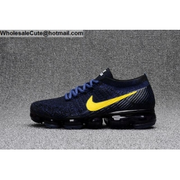 Nike Air VaporMax Dark Blue Black Yellow Mens Running Shoes