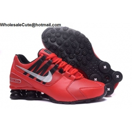 Nike Shox Avenue Red Black Silver Mens Running Shoes