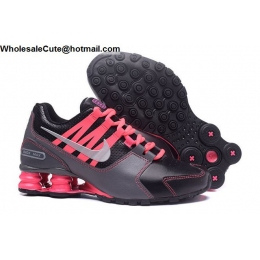 Womens Nike Shox Avenue Black Grey Pink Running Shoes