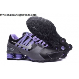 Womens Nike Shox Avenue Black Grey Purple Running Shoes