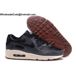 Womens Nike Air Max 90 Premium Black Running Shoes