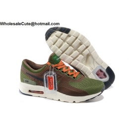 Nike Air Max Zero QS Army Green Brown Mens Running Shoes