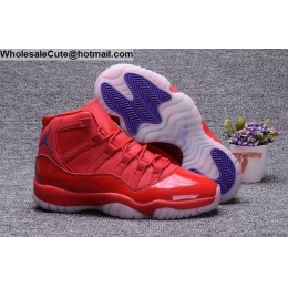 Air Jordan 11 Red Purple Mens Basketball Shoes