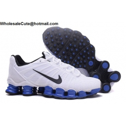 Nike Shox TLX Mens Running Shoes White Blue Black