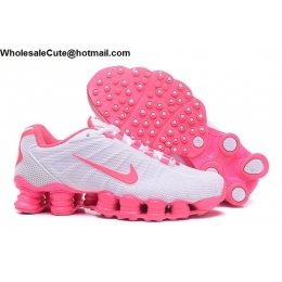 Womens Nike Shox TLX Running Shoes White Pink